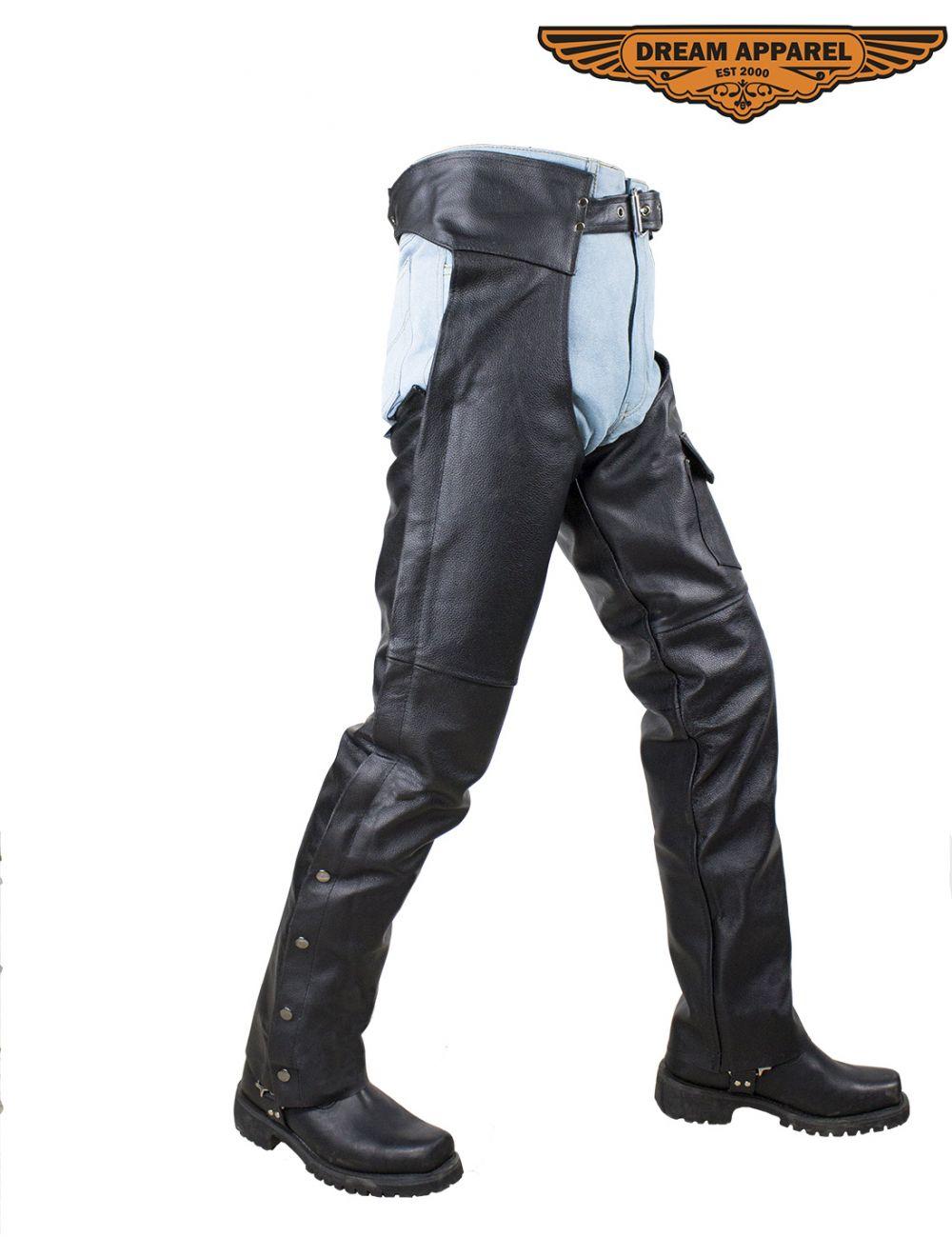 Premium Naked Cowhide Leather Biker Vest - Motorcycle